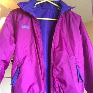 Reversible puffy Columbia jacket